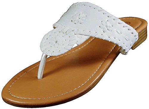 Slip on Pierre White Dumas Women's Rosetta 1 Sandals HWn8Ccf