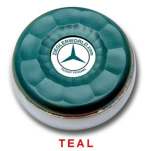 ZieglerWorld Table Large Shuffleboard Puck Weights -- Teal & Orange Colors by Zieglerworld