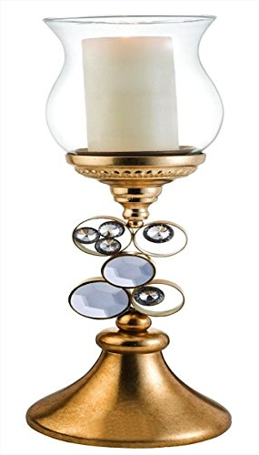 - ORE International K-4260-C3 Malha Candleholder without Candle, 20.5-Inch Height, Gold