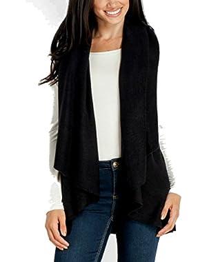 Look By M Women's Draped 4 in 1 Multi Ways Basic Shawl Vest