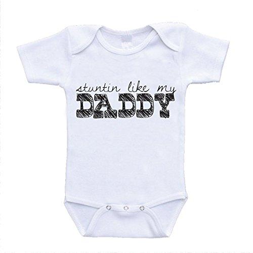 Stuntin Like My Daddy Baby Onesies Lyrics Hilarious Funny Rompers newborn(0-3 Months) (Lil Wayne Lyrics compare prices)
