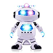 CifToys Electronic Walking Dancing Robot Toy For Kids, Boys & Girls | Flashing Lights, 360° Body Spinning | Have Fun, Develop Fine Motor Skills & Boost Hand To Eye Coordination