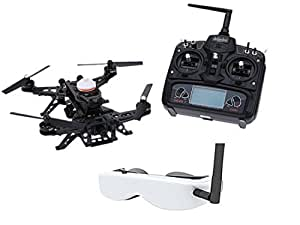 Walkera Runner 250 Supper Ultra-fast RTF FPV Drone Quadcopter RC Helicopter UAV with DEVO 7 HD Camera Image Transmission OSD Goggle 2 (FPV Version)