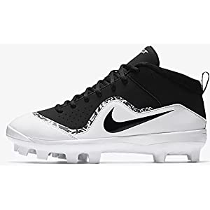 Nike Men's Force Trout Pro MCS Baseball Cleat Black/White/Cool Grey Size 10 M US