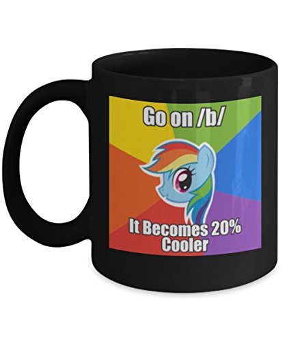 Go On/B/ It Becomes 20% Cooler My Little Pony Coffee or Tea Mug Great Gift for Brony or Pegasister, Lover of MLP or Equestria Girls, MLP Cup Gift for Adults, Twilight Sparkle, Rainbow Dash -