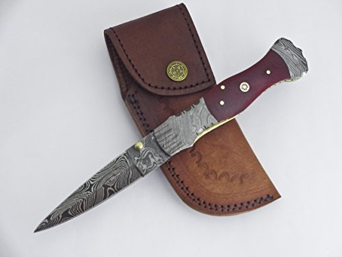 FN-42, Custom Handmade Damascus Steel Folding Knife – Classic Piece of Art