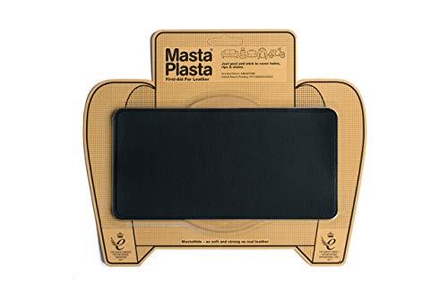 MastaPlasta - Parches autoadhesivos para reparacion de Cuero y Otros Tejidos. Negro. Elije el tamano y el diseno. Primeros Auxilios para sofas, Asientos de Coche, Bolsos, Chaquetas