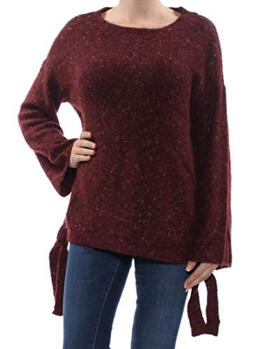 Max Studio Womens Wool Blend Winter Pullover Sweater Red M