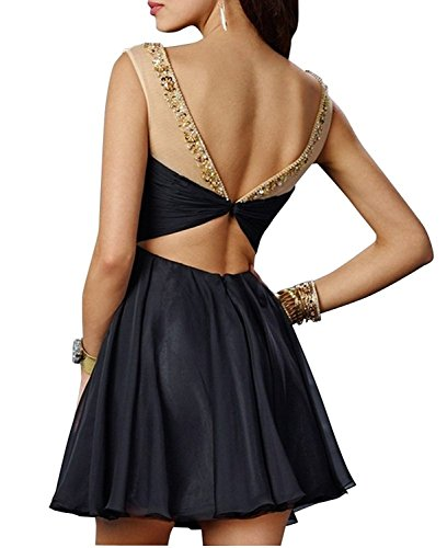 Abendkleider Herzausschnitt La mia Chiffon Jugendweihkleider Cocktailkleider Ballkleider Navy Promkleider Braut Blau Mini npUTfWp