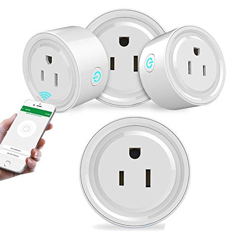 exgoofit Pack 4pcs Smart Plug Outlet WiFi Enabled work with Amazon Alexa Echo Google Home IFTTT Remote Control Smart Socket No Hub Requried by exgoofit