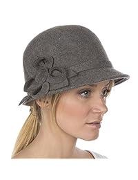 Sakkas Gia Womens Vintage Style 100% Wool Cloche Hat