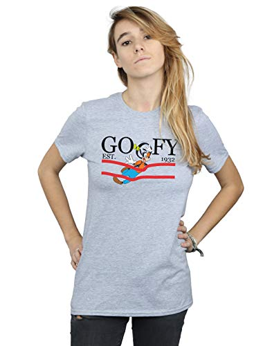 Gris Disney Femme Petit T Sport shirt Goofy Fit Nature By Ami qFwqvC