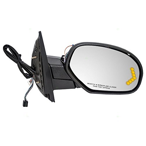 Passengers Power Side View Mirror Heated Memory Puddle Lamp Signal on Glass Power Folding for Chevy GMC Cadillac Pickup Truck SUV AutoAndArt