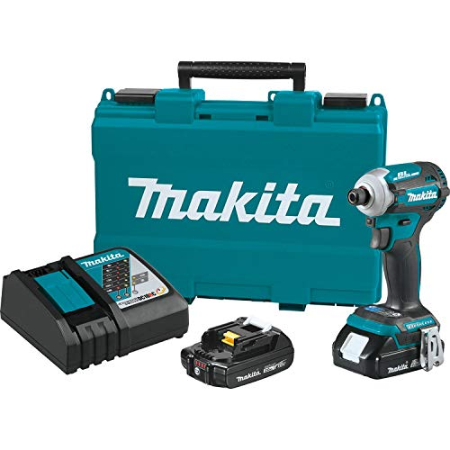 Makita XDT16R 18V LXT Lithium-Ion Compact Brushless Cordless Quick-Shift Mode 4-Speed Impact Driver Kit (2.0Ah)