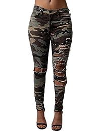 Women Elegant Camouflage Trousers Soft Pants Knee-Cut Leggings Bodycon Pants