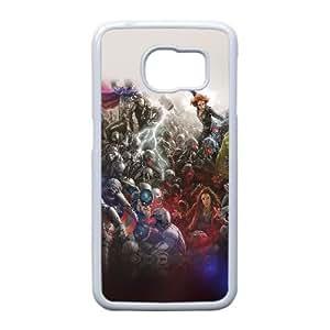 C1O86 al Vengadores caso funda héroe marvel llamarada Ultron arte pelea luz W2A3ZL funda Samsung Galaxy S6 teléfono celular cubren DK0MMF7RQ blanco