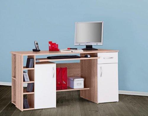 Escritorio Hot-roble blanco mesa de ordenador mesa escritorio ...