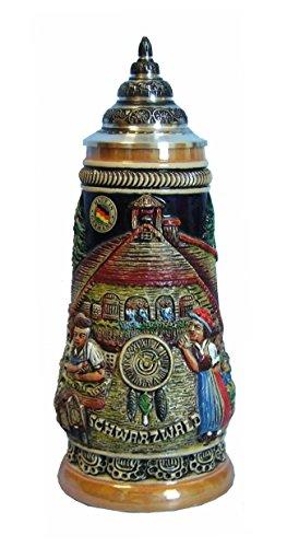 (Beer Stein Black Forest Cuckoo Clock stein 0.5 liter tankard, beer mug)