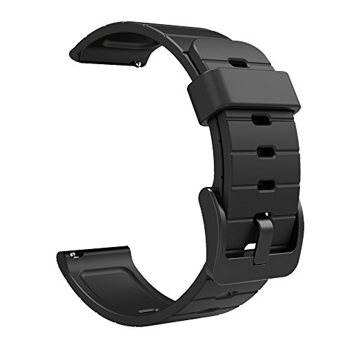 ds for Smart Watch,SMA-Q2 Wristwatch Watch Strap, 20mm TPU Watch Band,3 Kinds of Color for Optional (Black) ()