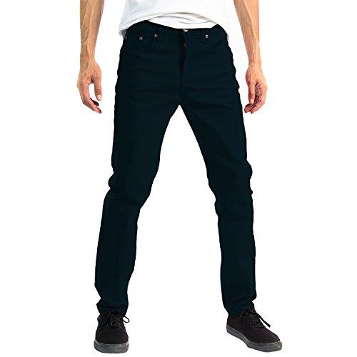 Alta Designer Fashion Mens Slim Fit Skinny Denim Jeans - Navy Blue - 34