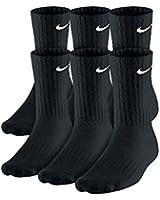 Nike 6 Pack Performance Cotton Crew Band Socks -BLACK, L