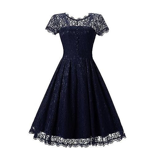 Blue Navy Short Prom Dress: Amazon.com
