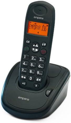 Emporia D36_GE - Teléfono inalámbrico analógico (teclas grandes, DECT, pantalla iluminada, manos libres), color negro [Importado de Alemania]: Amazon.es: Electrónica