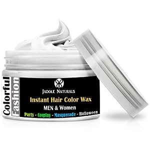 Jadole Naturals White Hair Wax Temporary - Hair Wax, Natural Matte Hairstyle Hair Dye Wax For Party 4 oz