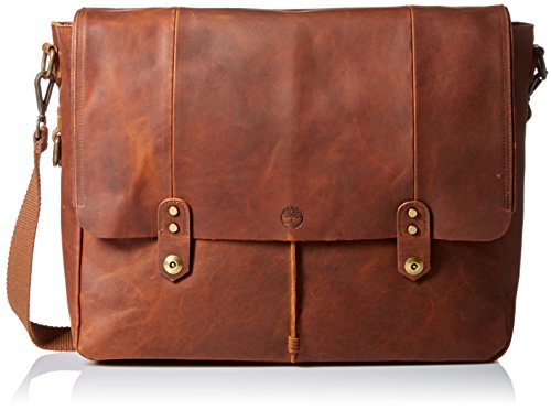 Timberland Mens Walnut Leather Messenger