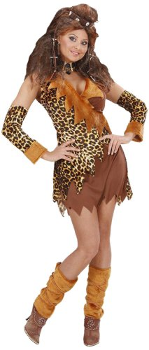 Ladies Cavewoman Costume Small Uk 8-10 For Prehistoric Caveman Fancy Dress (Cave Man And Woman Costumes)