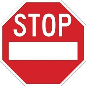 Stop, Mini Sign, 6