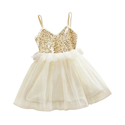 a5fc1d44a9 AP Boutique Baby Girl Frocks Birthday Party Wear Dresses Girls Fancy  Designer Golden White Dress (