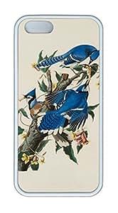 Blue Jay Bird DIY Case for iPhone 5s/5 Fashionable White New Diy Design High-end Custom
