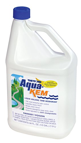 Thetford 64 Ounce Aqua-KEM Original-Holding Tank Treatment-Deodorizer-Waste Digester-Cleaner-64 oz Bottles 24260 ()