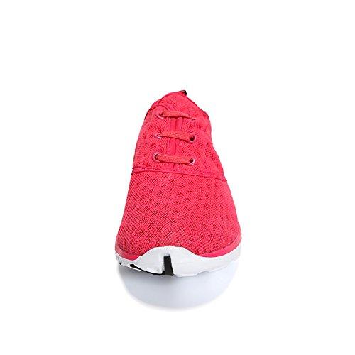 WQINSHOE Mens und Womens Mesh Slip auf Aqua Wasser Schuhe schnell trocknend sportlich lässig Sport Turnschuhe mit Sonnenbrille Rose