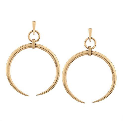 New Crescent Moon Earrings Vintage Silver Gold Dangle Earrings Metal Earrings for Women Fashion ()