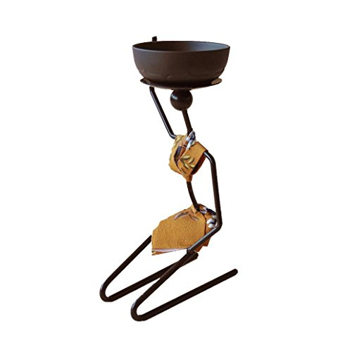 - oldeagle African Woman Style Charming Beautiful Iron Candlestick Metal Candle Holder Sconce Home Decor (yellow)