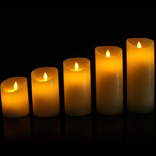 Flameless Candles Flickering Light Pillar Real Smooth Wax with Timer and 10-key Remote for Wedding,Votive,Yoga and Decorationset of 6 by ZTD (Image #8)