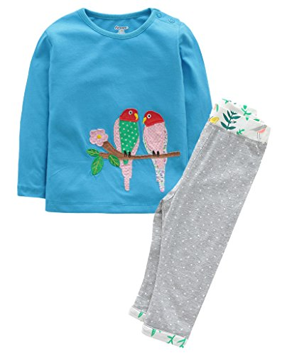 Fiream Girls Autumn Cute Print Long Sleeve Clothing Set
