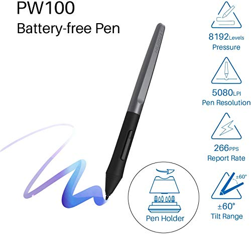 Huion H610PRO V2 Graphics Drawing Tablet 10x6 inch with 8192 Battery-Free Stylus Tilt Function, Ideal Use for Distance Education and Wed Conference