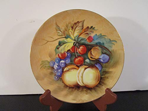 """Lefton China Hand Painted Fruit Plate 8"""""""