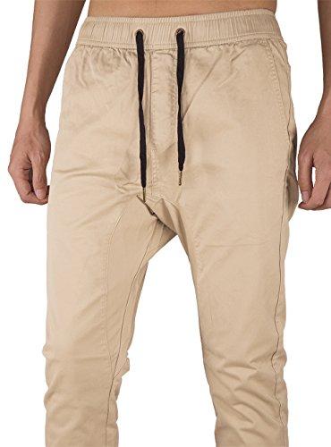 Chino The Jogging Awoken Casual Slim Coton Crème Kaki Fit Homme Pantalon FqrfqnEZ