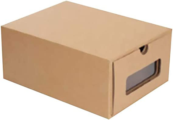Celucke Caja de cartón Grueso de Kraft Transparente, Caja de Zapatos con cajón: Amazon.es: Joyería