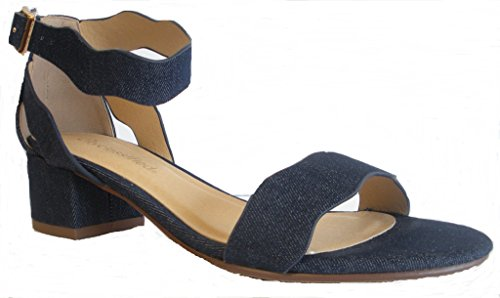 Sandalo Cinturino Alla Caviglia Donna Cityclassified Decise, Denim Blu Taglia 6 M Us