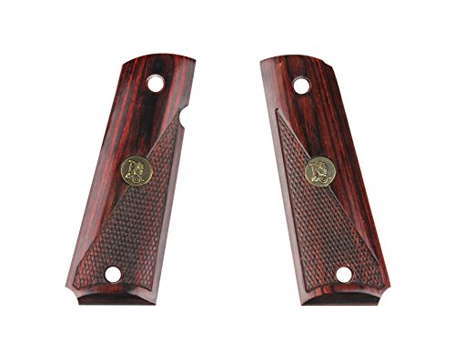 "Pachmayr 1911 Custom ""Half-Checkered Rosewood"" Grip Panels"