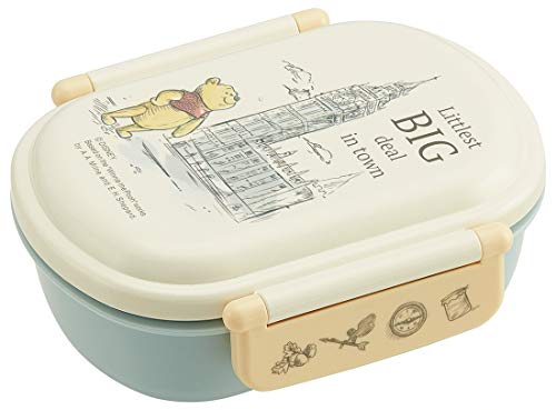 - Dishwasher corresponding Fluffy lid Tight Lunch Box Oval [Pooh London]