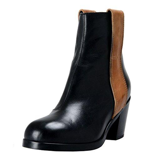 maison-martin-margiela-mm6-womens-black-leather-ankle-boots-shoes-us-6-it-36