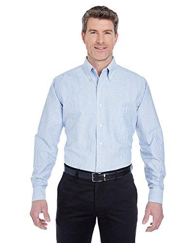 UltraClub� Men's Classic Wrinkle-Free Long-Sleeve Oxford (Blue/White) - Sleeve Wrinkle Oxford Free Long Shirt