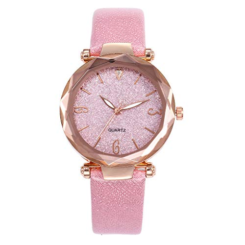 Gibobby Ladies Wristwatches On Sale,Elegant Luxury Quartz Analog Wrist Watches Chronograph Leather Belt Watch Gift for Women ()