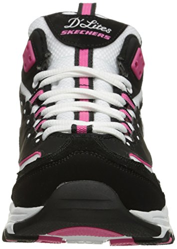 Lace Sport up White Pink Skechers Memory Foam Black Womens DLites Sneaker PYSXn